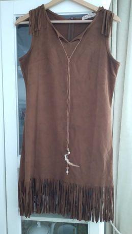 Sukienka indianka brązowa s/m
