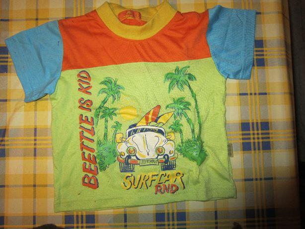 T-shirt de bebe 2 anos laranja, verde e azul NOVA