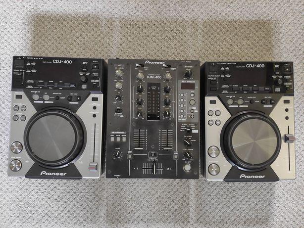 Pioneer cdj 400 x 2 + djm 400