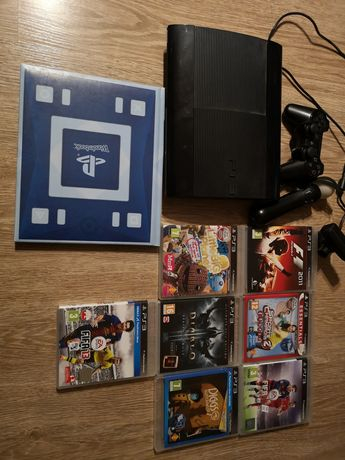 Play Station 3 super slim 320 GB, move, wonderbook, gry