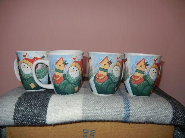 Kubki świąteczne -nowe 4 szt./prezent na czasie