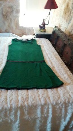 Vestido original/ Verde  e preto /tintoreto