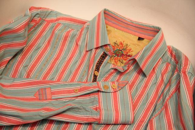 Robert Graham рр L рубашка из хлопка и шёлка missoni