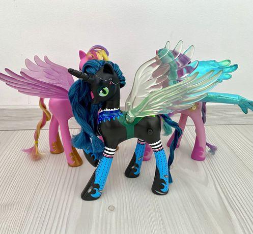 My Little Pony Chrysalis Królowa Podmieńców Celestia i Cadence 21 cm