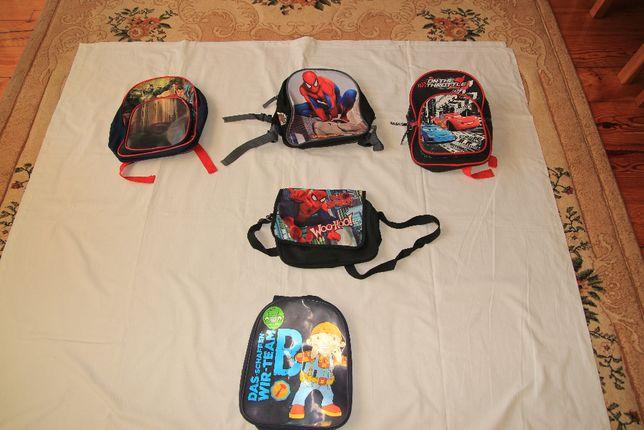 Plecaki dla przedszkolaka z Batman &Supermen ,SPIDER-MAN, BOB BUDOWNIC