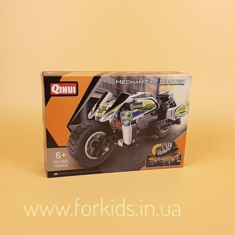 """Детский конструктор """"Полицейский мотоцикл"""" (5806) QIHUI, 177 деталей"""