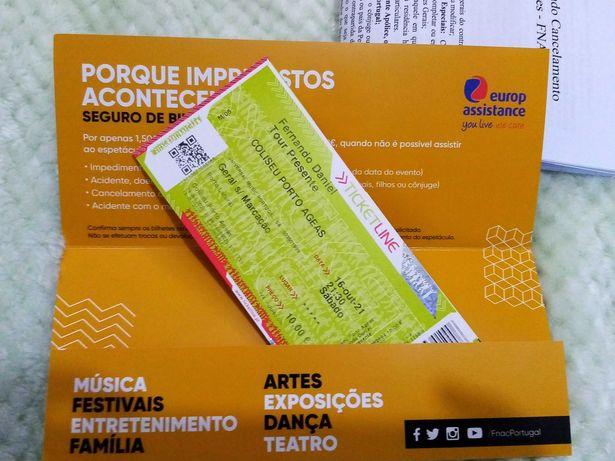Bilhetes para o concerto do Fernando Daniel