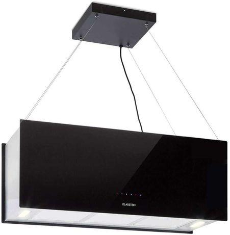 Wyspowy Mega okap kuchenny 90cm 590m³/h LED panel dotyk