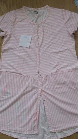 Zestaw trzech koszul ciążowych plus szlafrok