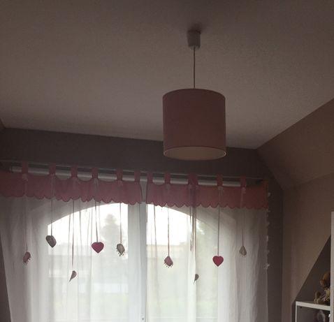 Lampa sufitowa 30 cm walec pastelowy róż