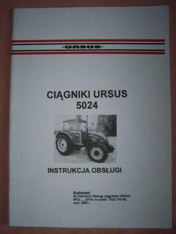instrukcja obsługi Ursus 5024 oryginał PL