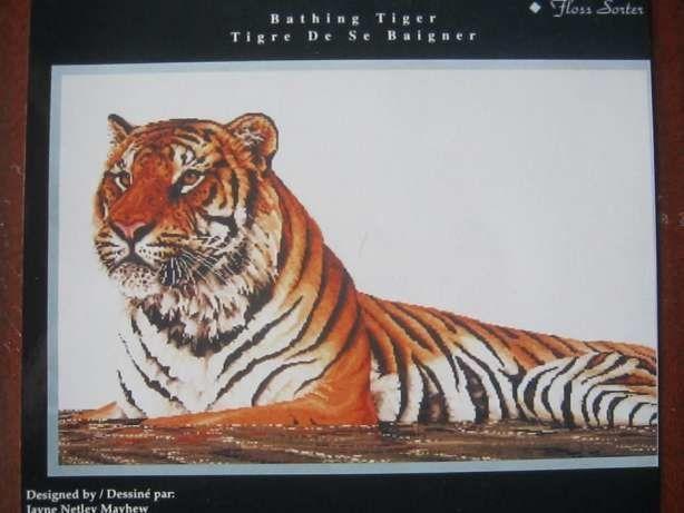 Схема вышивки крестиком Тигр