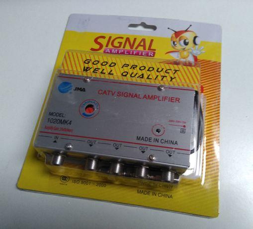 Amplificador de sinal antena TV, 4 e 6 saídas