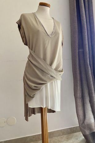 Vestido assimetrico Zara