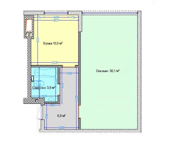 Святопетровское Продам 1-комнатную квартиру 50м2 в хорошем доме