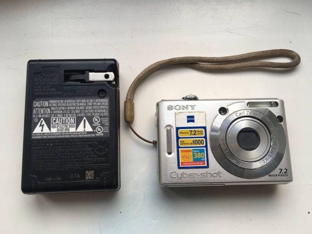 Фотоаппарат Sony DSC-W35 + SD карта 1Gb + оригинальная зарядка
