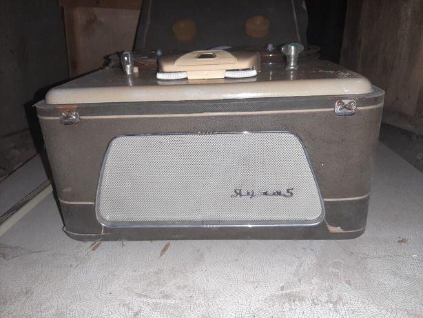 Магнитный проигрыватель Яуза 5, магнитофон