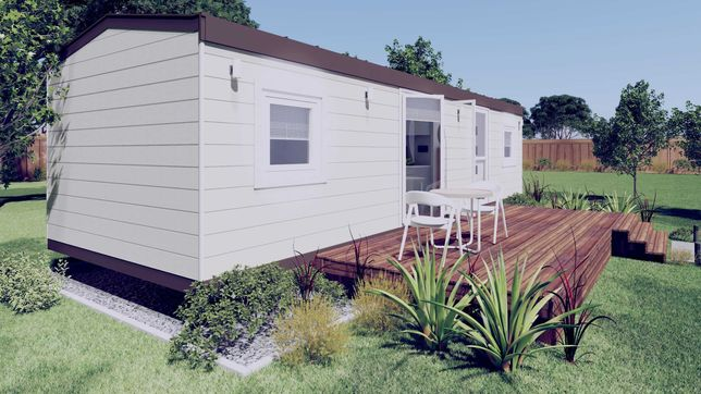 Nowy mobilny domek całoroczny 35m2 holenderski, działkowy 2 pokoje