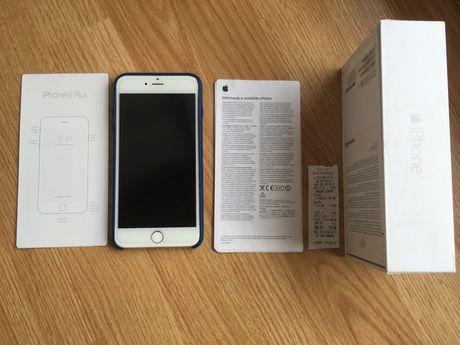 Iphone 6 Plus Silver 16 GB Case 100 % Sprawny Zestaw