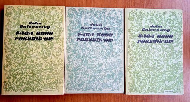 Saga rodu Forsyteów. tomy 1, 2 i 3 - John Galsworthy