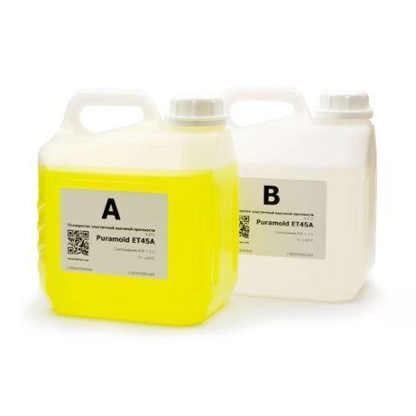 →Литьевой жидкий полиуретан для эластичных форм Puramold ET45A-5кг