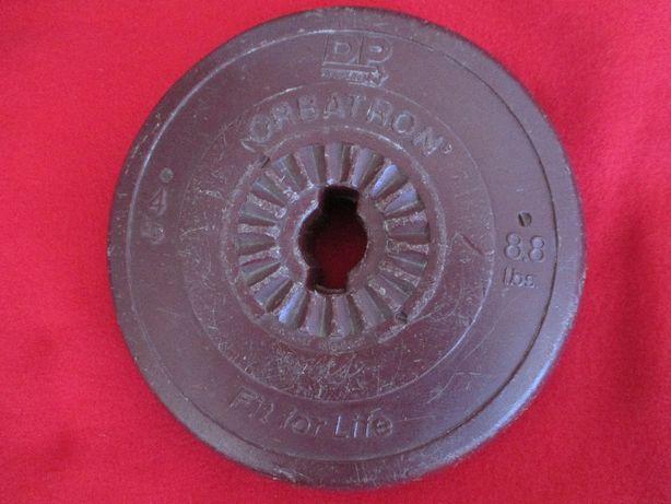 Dois pesos um de 4kgs, outro d 6,5 kgs, DP Orbatron