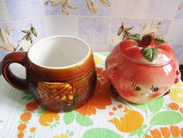 Чашка антикварная, 30-е годы + сахарница современная в подарок