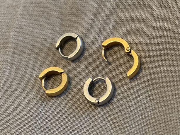 Argolas piercings dourados aço stainless steel titanio bijuteria