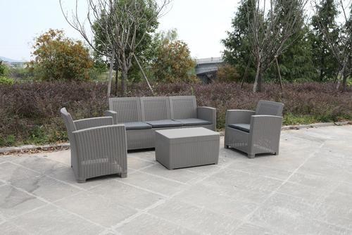 Meble ogrodowe Royalcraft zestaw kanapa, dwa fotele, stolik kawowy