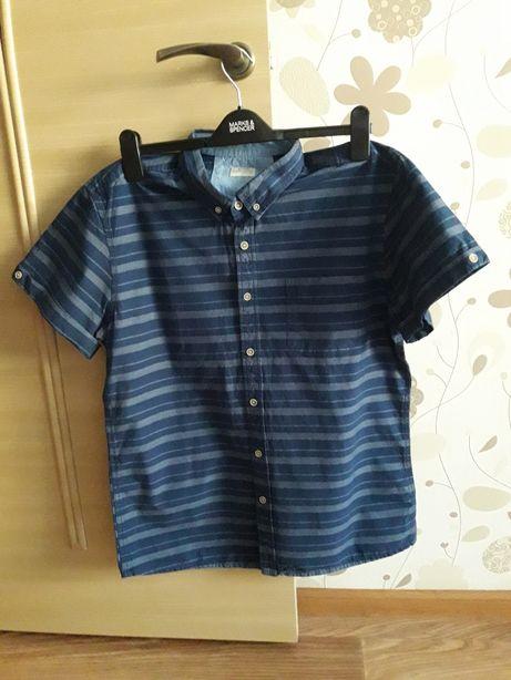 Летняя хлопковая рубашка, шведка Matalan, размер 48-50