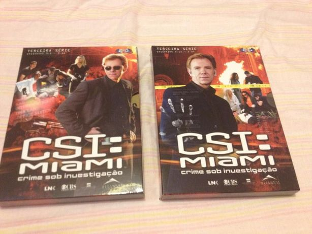 DVD série ''CSI Miami'' 3ª temporada