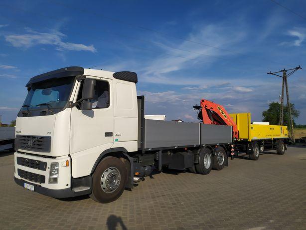 HDS Transport Przyczepa Kontenery Kostka Materiały Budowlane Dźwig
