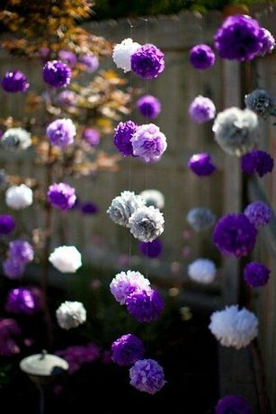Помпоны, бумажные цветы 25см заводские декор, фотозона