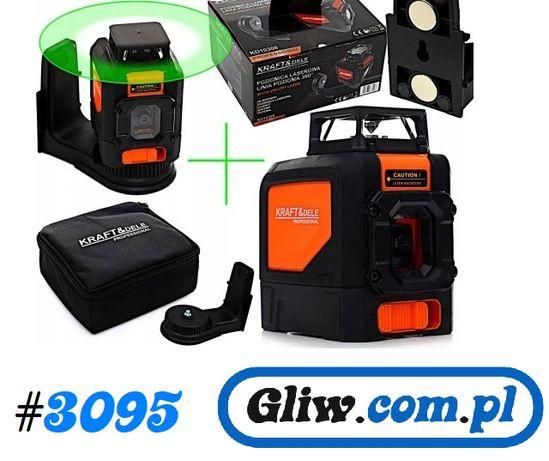 #3095 Lasert krzyżowy Poziomica laserowa 360 zielona wiązka KD10308