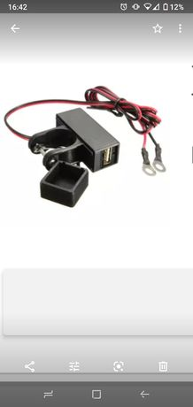 Porta USB Adaptador de energia e carregamento USB Moto Universal