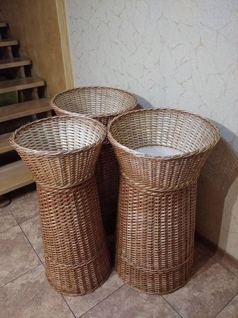 Плетеные изделия. Вироби з лози.Кошики.Меблі.Лотки.Плетені баночки.