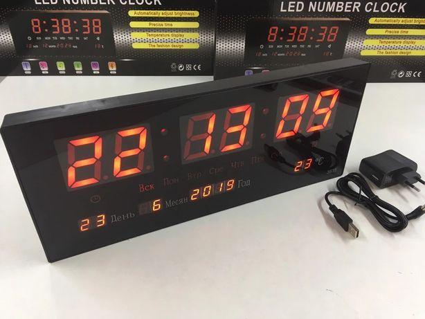 Электронные настенные часы VST-3615/ 3788 RED/ 15cm*26cm*3cm
