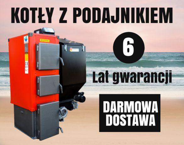 Kocioł 14 kW do 90 m2 Kotly z PODAJNIKIEM na EKOGROSZEK Piec 10 11 12