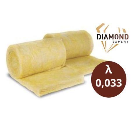 Wełna Mineralna Na Poddasze- 10 cm - Rolki 0,033 - Diamond Expert