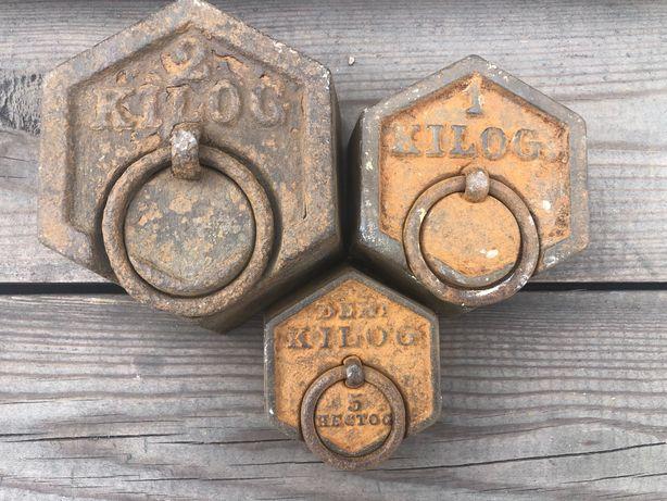 Stare - Odważniki 2 kg - 1 kg - 0,5 kg