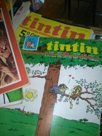 Lote de 400 Revistas Antigas Tintim