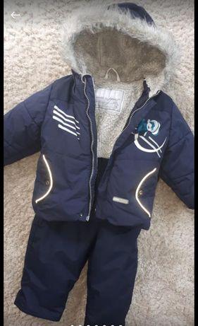 Зимний комбинезон Lenne рост 80+6 куртка и полукомбинезон