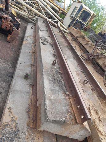 Подкрановые бетонные подушки с рельсом Р-50