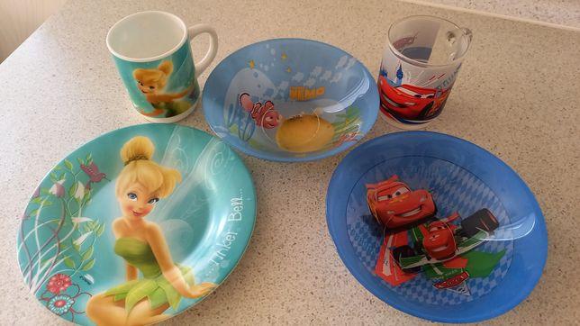 Люминарк Дисней набор чашка тарелка Тачки детская посуда ложка вилка