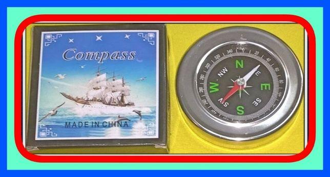 Kieszonkowy Metalowy Kompas (Busola) - Ø60mm