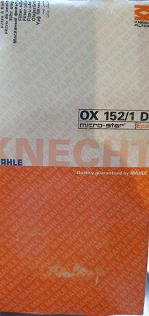 Фильтр масляный OX 152/1D MAHLE | KNECHT