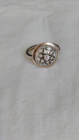 Винтажное серебряное кольцо 925* с камнями, колечко