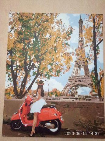 Картина 《Впервые в Париже》