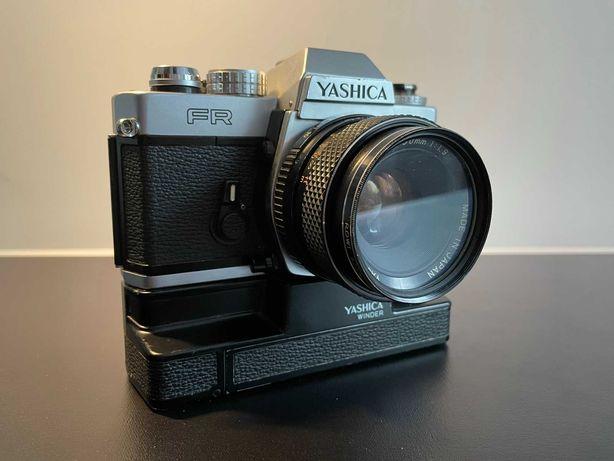Aparat Yashica FR & obiektyw DSB 50mm 1:1.9 & Winder (komplet)