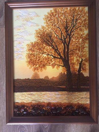 Картина  з бурштину